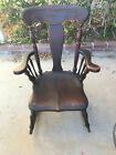 vintage antique wooden rocking chair small 35