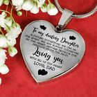 To my Darling Daughter Love DAD Luxury Heart Shape Necklace Anniversary Gift