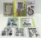 MINI Baby Christmas Shower Sea Clock Clear Rubber Stamps Lot of 8