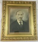Antique Victorian Large Ornate Gold Gilt Picture Frame Color Tinted Portrait ...