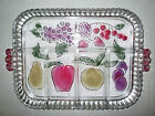 Vintage Indiana Glass Rainbow Mist Fruit 5 Part Divided Relish Serving Tray, 12