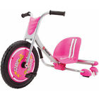 Flash Rider 360 Sparking Welded Steel Frame Trike Dual Inclined Caster Wheels US