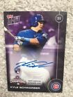 2016 Topps Now #WS10D Kyle Schwarber Cubs World Series Auto #12 49 + Cubs Team!!