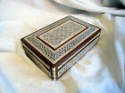 A VINTAGE BEAUTIFUL INLAID MOTHER OF PEARL EASTERN WOODEN BOX