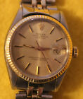 Mens Rolex Oyster Perpetual Datejust 14k Yellow Gold and Stainless - NO RESERVE!