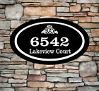 Personalized Home Address Sign Aluminum 12 x 7 Custom House Number Plaque OV2