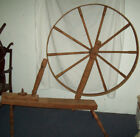 Large Size Antique Wooden Primitive Spinning Wheel 64'' Length x 62'' Height
