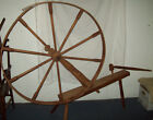 Large Size Antique Wooden Primitive Spinning Wheel 59'' Length x 59'' Height