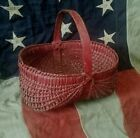 ** ANTIQUE SOUTHERN PAINTED BUTTOCKS BASKET **