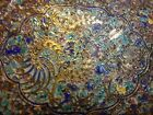 BEAUTIFUL CHINESE  QING SILVER ENAMEL FILIGREE CLOISONNE GILT TRAY PLATE DISH