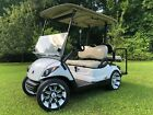 2014 G 29 Yamaha Drive Fuel Injected Gas Golf Cart led lights 4 seat 14 wheels