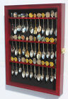 Defect-36 Spoon Display Case Rack Holder Wall Shadow Box Cabinet, glass door
