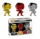 SDCC Funko Pop! The Flash Metallic Chrome (Gold Red Silver) 3 Pack Exclusive