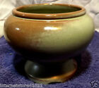 FRANKOMA POTTERY #22A Prairie Green footed bowl/chalice/compote/dish Frankoma