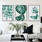 3 Piece Canvas Prints Set Refreshing Green Leaves Botanical Art Unframed