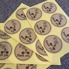 50 Cute Thank You Stickers On Natural Kraft Paper 15 Inches