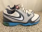 Womens Nike Air Competitor Tr Gray Blue lace Up Athletic Sneakers Sz 85