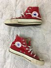 Red Vintage Converse Chuck Taylor Canvas Hi Top Sneakers Sz 55 Made in USA