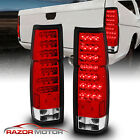 1986 97 Red Clear LED Back Tail Lights Pair For Nissan D21 Hardbody Pickup
