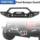 Textured Front Bumper Combo + 4x LED Lights Fit for 2007 2018 Jeep Wrangler JK