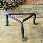 18th Century Antique Tiny Trivet with PENNY FEET Triangular KETTLE or POT Stand