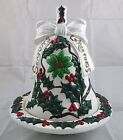 Vintage Hand Painted Seasons Greetings Christmas Candy Serving Dish