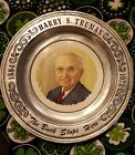 Harry S. Truman collector's pewter plate