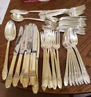 52 Piece Vtg 1847 Rogers Bros First Love Silverplate