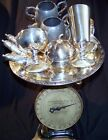 ANTIQUE LOT OF 5 LBS STERLING AND SILVER PLATE, CUPS, BOWLS, TABLEWARE - LOOK!!!