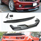 Fit 10 13 Chevy Camaro SS ABS Plastic TL1 Style Front Bumper Lip  Rear Spoiler