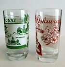 Vintage Set Of 2 Big Top Peanut Butter Collectible State Song Glasses 5.25