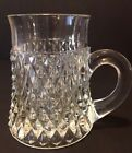 Vintage Indiana Glass Diamond Point Clear Glass Mug 10 oz