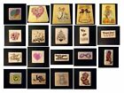 STAMPENDOUS Wood Mounted Rubber Stamps from 1980s  1990s Excellent Condition