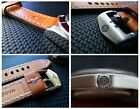 Handmade 22mm Leather Strap with Buckle for Tudor Heritage Black Bay