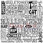 Deep Red Stamps Halloween Background Rubber Cling Stamp