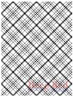 Deep Red Stamps Plaid Background Rubber Cling Stamp
