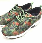 Drew Excel Green Multi Color Sneakers Size 11XW Athletic Workout Floral Hawaiian