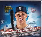 2017 Topps Chrome Jumbo Hobby Box - Factory Sealed - 5 Autos - Bellinger, Judge?