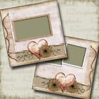 Delicate Heart 2 Premade Scrapbook Pages EZ Layout 3330