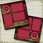 HALLOWEEN ROSE 2 Premade Scrapbook Pages EZ Layout 3326
