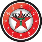 Texaco Service Gas Oil Retro Black Red Collectible Wall Hanging Office Clock