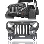 One piece Front Grill+Bumper w Winch Plate for Jeep Wrangler JK 2007 2018