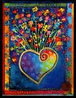 LAUREL BURCH Birthday Heart Full of Flowers Ornate Birthday Greeting Card NEW