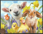 Adorable Lamb Ducks Chick Bunny Rabbit Funny Small Easter Greeting Card NEW