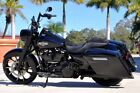 2018 Harley-Davidson FLHR Road King  2018 Harley Davidson Road King FLHR BLACK 5244 Miles Custom Wheel Bars Bags Pipe
