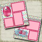 Crazy Eggs Easter Premade Scrapbook Pages EZ Layout 3736