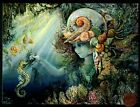 JOSEPHINE WALL Seahorse Mermaid Seashells Birthday Greeting Card NEW