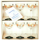 LIBBEY Hostess Glassware GOLD LEAF #8482 4oz. Cocktail Set of 6 ORIGINAL BOX