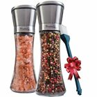 Salt and Pepper Grinder Set of 2 Tall Salt and Pepper Shakers with Coarseness