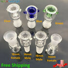 14mm 18mm Male Female Honeycomb Built in Screen Glass Bowl Green Blue Clear